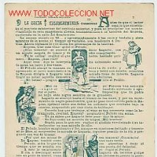 Postales: POSTAL DEL SIGLO XIX CON EL CAPÍTULO II DE LA OREJA ENSANGRENTADA DE CHAMORRO. REVERSO SIN DIVIDIR.. Lote 2124463