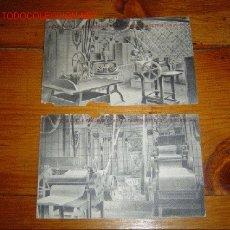Postales: DOS POSTALES MAQUINARIA PARA LA FABRICACIÓN DE PASTA BOLONIA. Lote 25968379