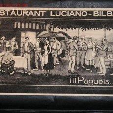Postales: RESTAURANT LUCIANO - BILBAO. Lote 27147456