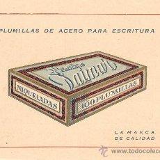 Postales: PLUMILLAS DE ACERO PARA ESCRITURA DAIMAR. Lote 26865156
