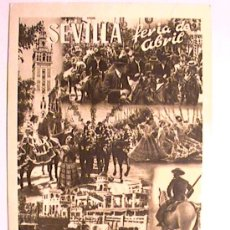 Postales: POSTAL PUBLICITARIA DE CERÁMICA SANTA ANA DE LA FERIA DE ABRIL DE SEVILLA CIRCA 1956. Lote 26362918