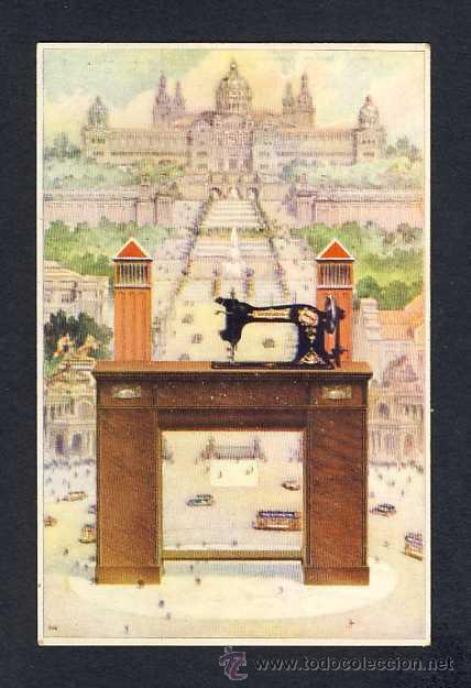 POSTAL PUBLICITARIA: MAQUINAS DE COSER WERTHEIM (ED.BARGUÑO) (Postales - Postales Temáticas - Publicitarias)