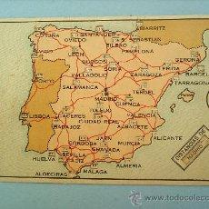 Postales: MAPA DE ESPAÑA -DISTANCIA -PROPAGANDA-MURCIA-DESLIZABLE . Lote 22347271
