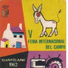 Postales: Vª FERIA INTERNACIONAL DEL CAMPO - MADRID. Lote 24811955