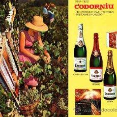 Postales: COLECCION DE 8 POSTALES PUBLICITARIAS DE CAVA CODORNIU. Lote 10669260