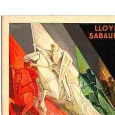 Postales: POSTAL ILUSTRADA LLOYD SABAUDO SERVICIOS RAPIDOS DE LUJO SEVILLA-BARCELONA AÑO 1929. Lote 11252844