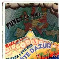 Postales: POSTAL PUBLICITARIA DE MONTE-CARLO L'HOTEL LIDO LA COTE D'AZUR. Lote 11262611