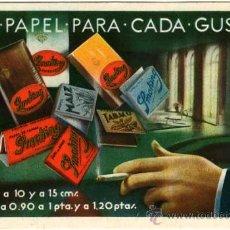 Postales: PAPEL DE FUMAR SMOKING. Lote 47068278