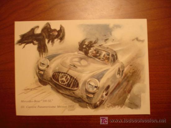 MERCEDES - BENZ '300 SL'. III. CARRERA PANAMERICANA. MEXICO 1952. (Postales - Postales Temáticas - Publicitarias)