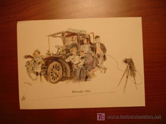 MERCEDES - BENZ. MERCEDES 1904. (Postales - Postales Temáticas - Publicitarias)