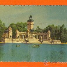Postales: MADRID. MONUMENTO A ALFONSO XII (RETIRO). FOTO RELIEVE. A.LLOPIS. PUBLICIDAD AURELIO HIDALGO.PEDRO M. Lote 26803593