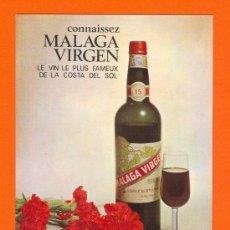 Postales: MALAGA VIRGEN. LE VIN LE PLUS FAMEUX DE LA COSTA DEL SOL. SIN CIRCULAR. Lote 27232439