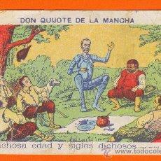 Postales: DON QUIJOTE DE LA MANCHA. TARJETA PUBLICITARIA CHOCOLATES SUPERKAEZ. MANZANARES (CIUDAD REAL). Lote 26895493