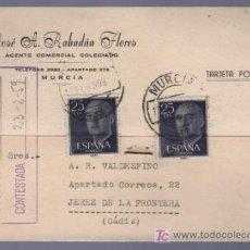 Postales: TARJETA POSTAL DE PUBLICIDAD DE JOSE A. RABADAN FLORES. MURCIA. Lote 13837711