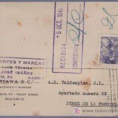 Postales: TARJETA POSTAL DE PUBLICIDAD DE TRIANA & CO. MADRID. Lote 13837723