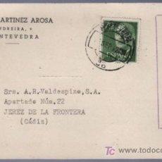Postales: TARJETA POSTAL DE PUBLICIDAD DE JESUS MARTINEZ AROSA. PONTEVEDRA. Lote 13838112