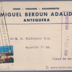 Postales: TARJETA POSTAL DE PUBLICIDAD DE MIGUEL BERDUN ADALID. ANTEQUERA. Lote 13838115