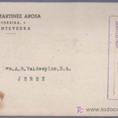 Postales: TARJETA POSTAL DE PUBLICIDAD DE JESUS MARTINEZ AROSA. PONTEVEDRA. Lote 13838132