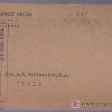 Postales: TARJETA POSTAL DE PUBLICIDAD DE JESUS MARTINEZ AROSA. PONTEVEDRA. Lote 13838134