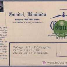 Postales: TARJETA POSTAL DE PUBLICIDAD DE GANDEL, LIMITADA. MADRID. Lote 13838136