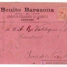 Postales: CORDOBA. TARJETA PUBLICITARIA DE BENITO BARASONA. 1900. Lote 23904587