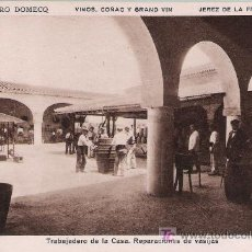 Postales: PEDRO DOMECK. JEREZ DE LA FRONTERA. TRABAJADERO DE LA CASA.REPARACIONES DE VASIJAS.. Lote 14848148