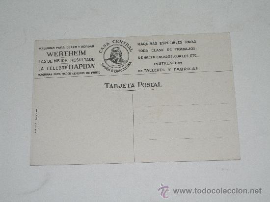Postales: POSTAL PUBLICITARIA MAQUINAS PARA COSER Y BORDAR WERTHEIM . EDIC. BARGUÑO . SIN CIRCULAR - Foto 2 - 22422257