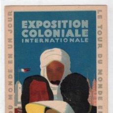 Postales: TARJETA POSTAL DE LA EXPOSITION COLONIALE INTERNATIONALE PARIS 1931. Lote 24828469