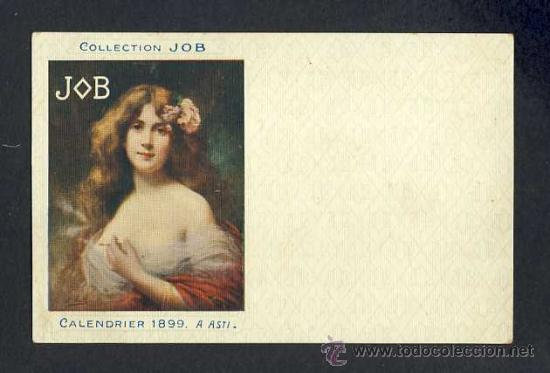 Postales: Postal publicitaria de Collection JOB (cigarrillos, tabaco) 1899. Modernista, art nouveau - Foto 1 - 15283393