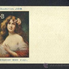 Postales: POSTAL PUBLICITARIA DE COLLECTION JOB (CIGARRILLOS, TABACO) 1899. MODERNISTA, ART NOUVEAU. Lote 15283393