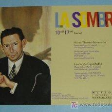 Postales: CARTEL EXPOSICION LA SOMBRO. Lote 15405946