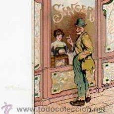 Postales: POSTAL PUBLICITARIA SINGER. Lote 15558910