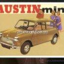 Postales: AUSTIN MINI - POSTAL REPRODRUCCION PUBLICIDAD ANTIGUA AUSTIN MINI. Lote 25939918