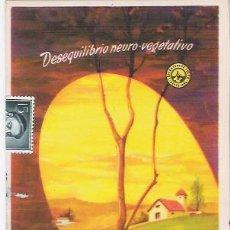 Postales: POSTAL ANTIGUA CON PUBLICIDAD FARMACEUTICA, NEURONAL, ÑABORATORIOS TURÓN.. Lote 27078343