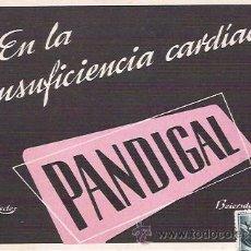 Postales: POSTAL ANTIGUA CON PUBLICIDAD FARMACEUTICA, PANDIGAL, LABORATORIOS GUSTAVO REDER, S.A., CIRCULADA.. Lote 27182750