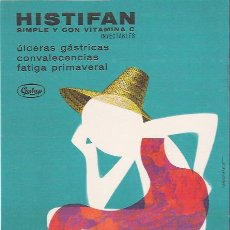 Postales: POSTAL ANTIGUA CON PUBLICIDAD FARMACEUTICA, HISTIFAN, LABORATORIOS GALUP, SIN CIRCULAR.. Lote 26494900