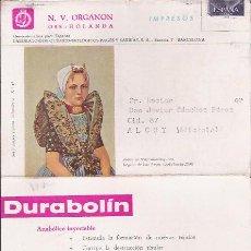 Postales: POSTAL ANTIGUA CON PUBLICIDAD FARMACEUTICA, DURABOLIN PREMATURIDAD. CIRCULADA.. Lote 26576718