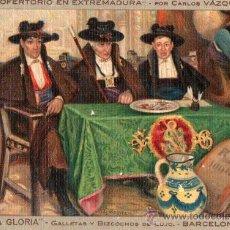 Postales: LA GLORIA GALLETAS Y BIZCOCHOS DE LUJO BARCELONA. Lote 19331064