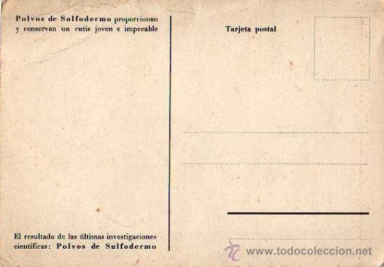 Postales: Postal de Polvos de Sulfodermo (proporcionan y conservan un cutis joven e impecable) - Foto 2 - 17730390