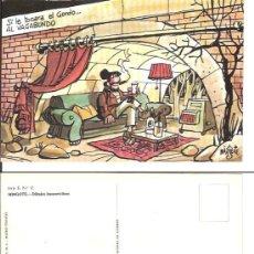 Postales: POSTAL LOTERIA DIBUJOS HUMORISTICOS - AUTOR MINGOTE SERIE E,N.12. Lote 18807595