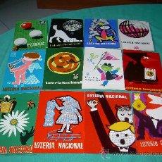 Postales: 12 - POSTALES LOTERIA NACIONAL SERIE A SERVICIO NACIONAL DE LOTERIA. Lote 26283145