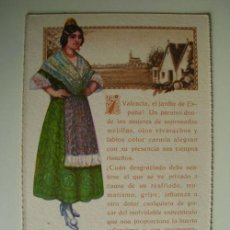Postales: POSTAL ANTIGUA PUBLICIDAD: VALENCIA - TEXTO ELOGIO DE VALENCIA Y DE LA ASPIRINA BAYER. Lote 18915376