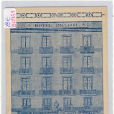 Postales: (PS-17359)POSTAL PUBLICITARIA DE BARCELONA-HOTEL IMPERIAL. Lote 19438756