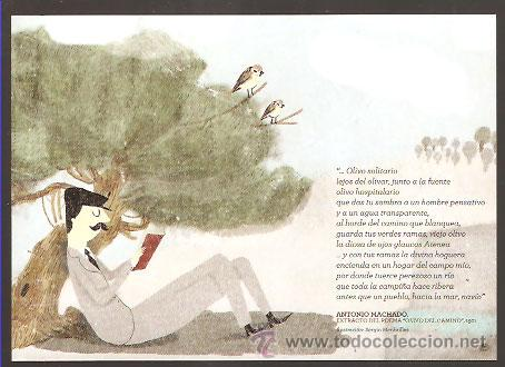 Postal Publicitaria Aceites De Oliva Poema A Vendido En