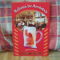 Postales: CERVECERÍA GAMBRINUS REBOSA DE AMISTAD. Lote 21519860