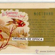 Postales: (PS-19611)POSTAL PUBLICITARIA EL SIBONEY HIGIENICOS DE BREA. Lote 22038332