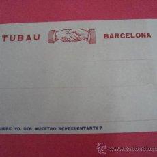 Postales: TARJETÓN PUBLICITARIO TAMAÑO POSTAL DE MACIZOS NORTH BRITISH RUBBER. TUBAU, BARCELONA. Lote 22523886