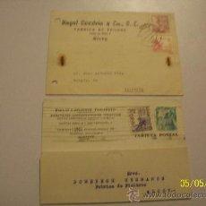 Postales: DOS TARJETAS// CIRCULADAS// ANGEL CANDELA Y CÍA, S.C..- 1947//EMILIO LAFUENTE TOMASETTI.-1949. Lote 23115461