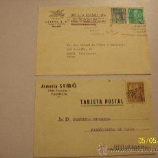Postales: DOS TARJETAS// CIRCULADAS//HIJO DE M. GONZALEZ PUGA( (LARIOS S.A.).-1972// ARMERÍA SIMÓ.-1949. Lote 23115467