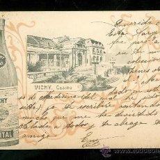 Postales: TARJETA POSTAL DE PUBLICIDAD DE AGUA DE VICHY.. Lote 24828640